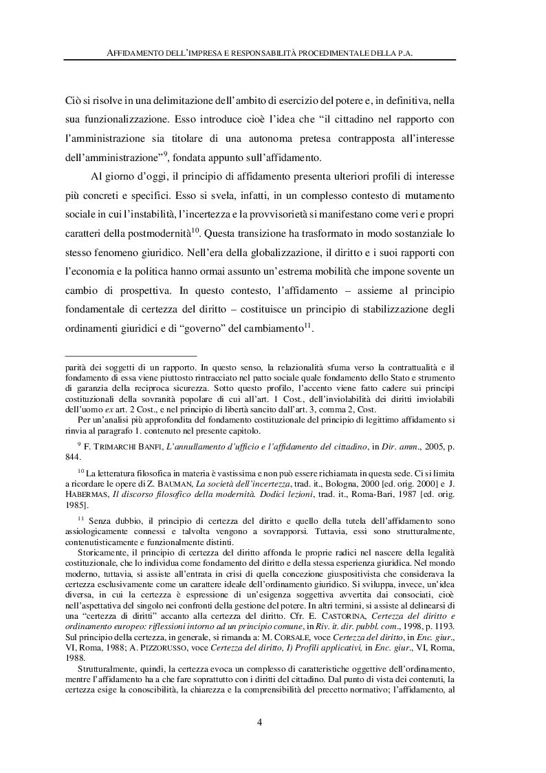 Anteprima della tesi: Affidamento dell'impresa e responsabilità procedimentale della Pubblica Amministrazione, Pagina 8