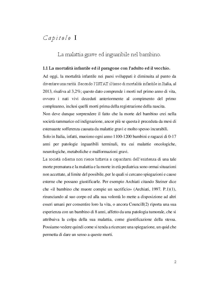 Anteprima della tesi: Aspetti etici degli interventi medici e assistenziali nel fine vita in età pediatrica. Il problema dell'eutanasia, Pagina 3