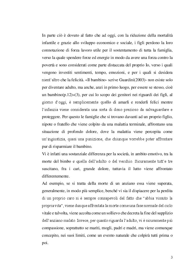 Anteprima della tesi: Aspetti etici degli interventi medici e assistenziali nel fine vita in età pediatrica. Il problema dell'eutanasia, Pagina 4