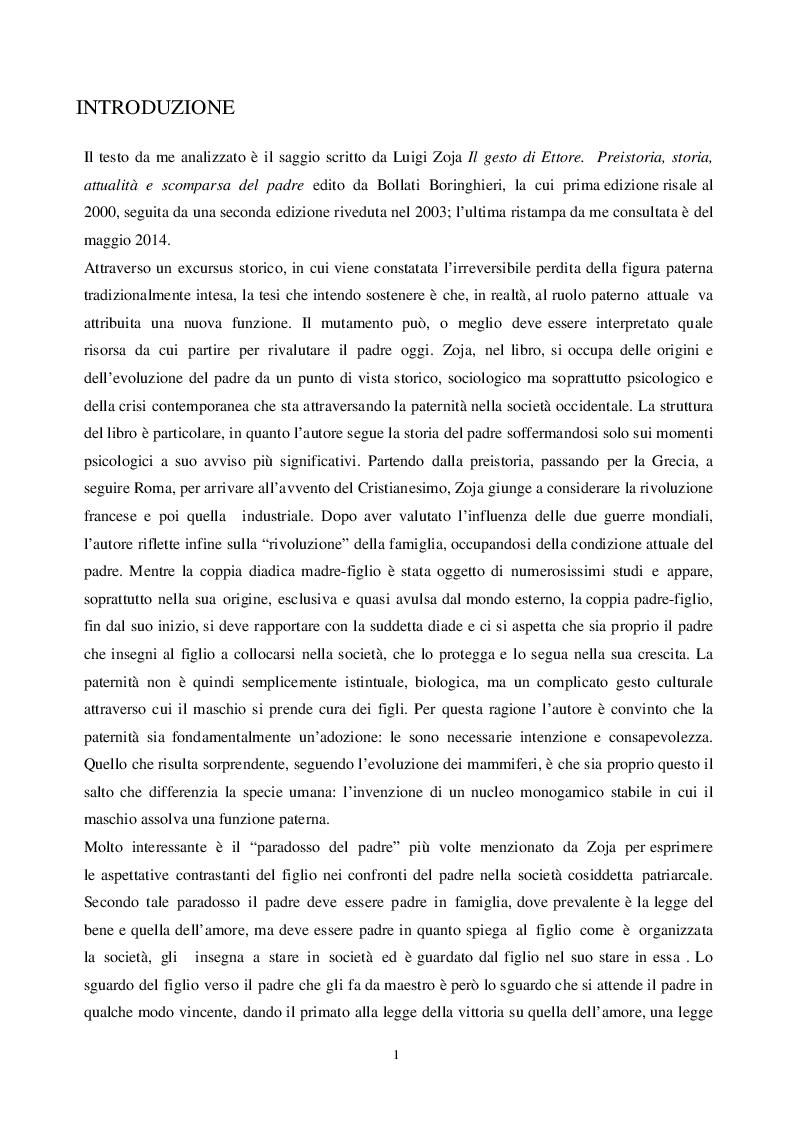 Anteprima della tesi: Alla ricerca del padre perduto, Pagina 2
