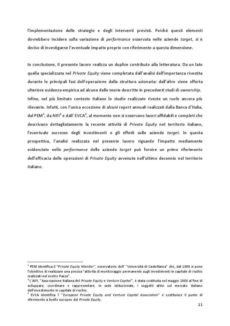 Anteprima della tesi: Quando la proprietà entra in gioco: il ruolo della struttura azionaria delle aziende familiari oggetto di investimenti di Private Equity, Pagina 5