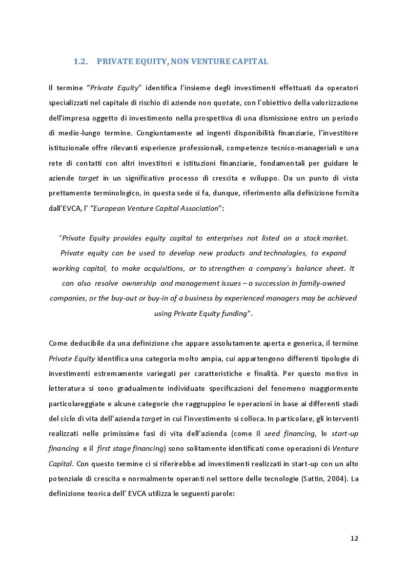Anteprima della tesi: Quando la proprietà entra in gioco: il ruolo della struttura azionaria delle aziende familiari oggetto di investimenti di Private Equity, Pagina 6