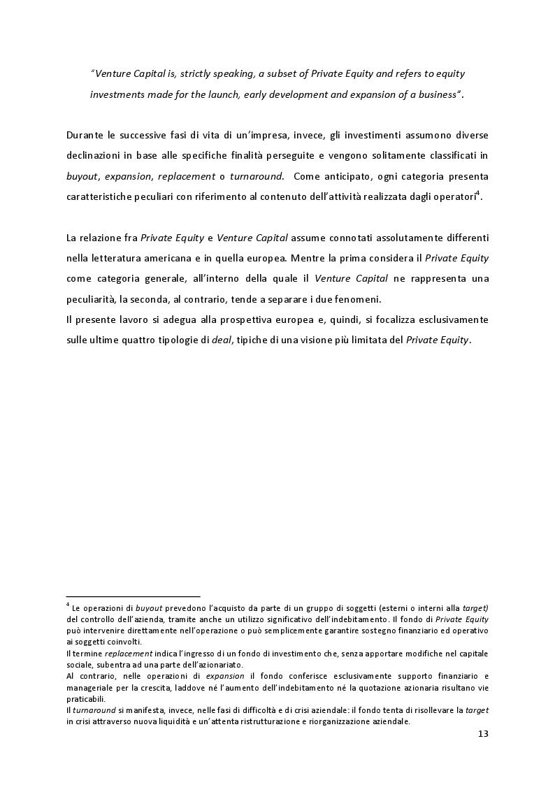 Anteprima della tesi: Quando la proprietà entra in gioco: il ruolo della struttura azionaria delle aziende familiari oggetto di investimenti di Private Equity, Pagina 7