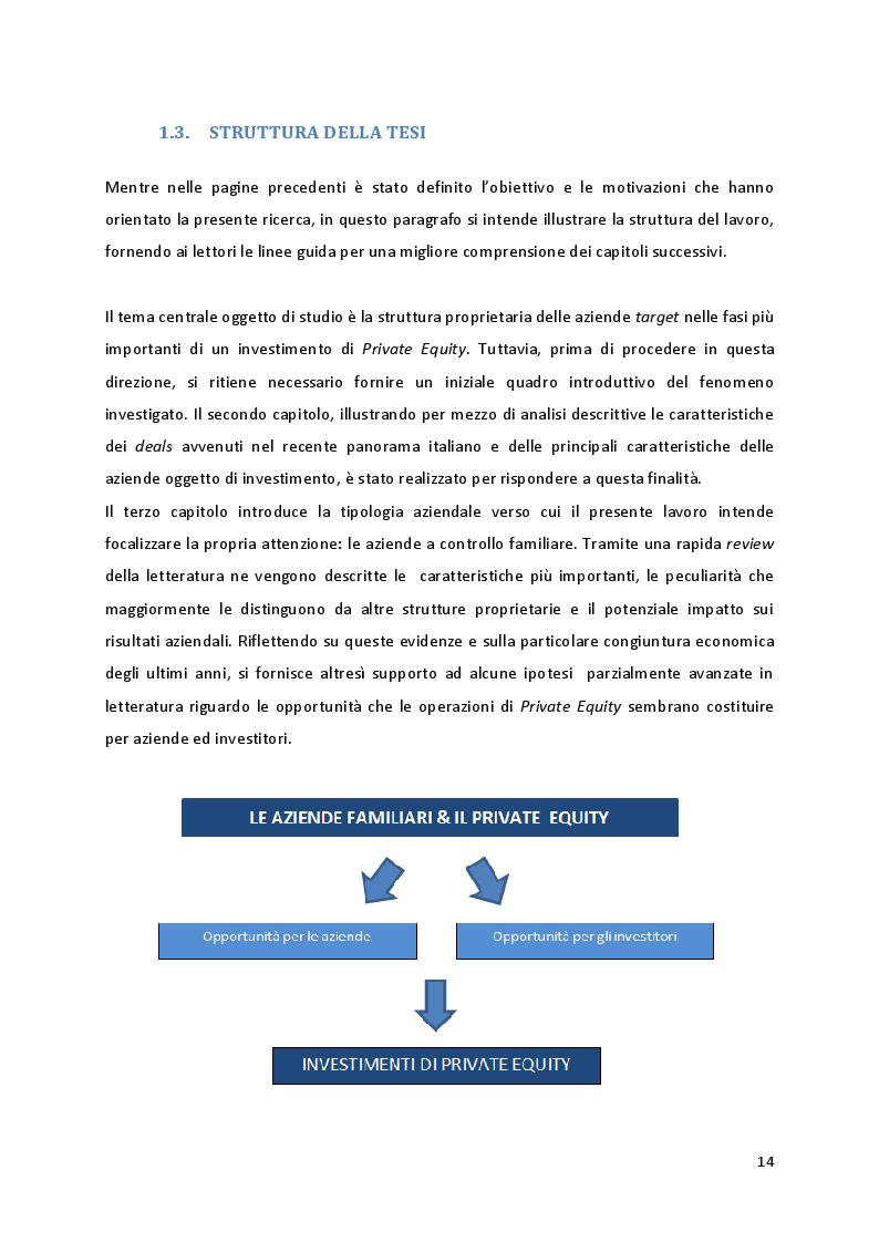 Anteprima della tesi: Quando la proprietà entra in gioco: il ruolo della struttura azionaria delle aziende familiari oggetto di investimenti di Private Equity, Pagina 8