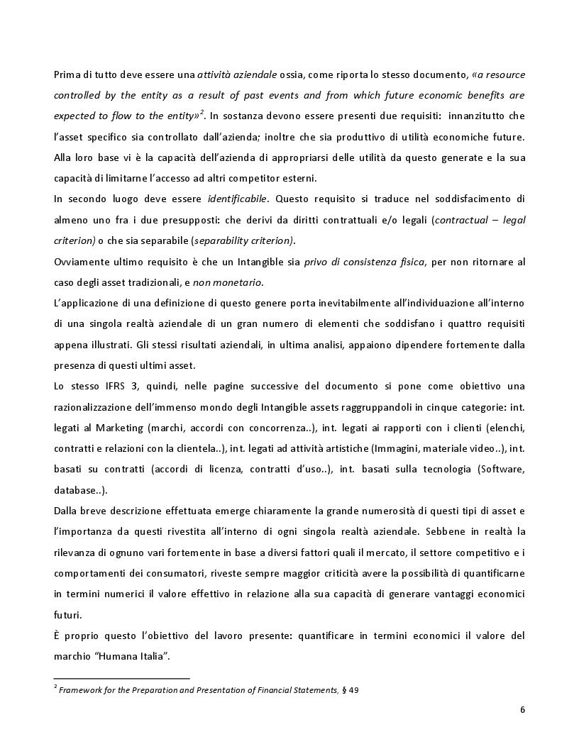 Anteprima della tesi: La valutazione dei marchi con il metodo dei risultati differenziali: il caso Humana Italia, Pagina 5