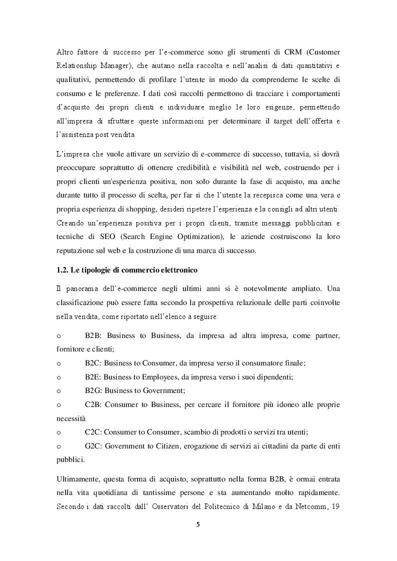 Anteprima della tesi: E-commerce: importanza, possibilità e il suo utilizzo da parte di Decathlon Italia, Pagina 5