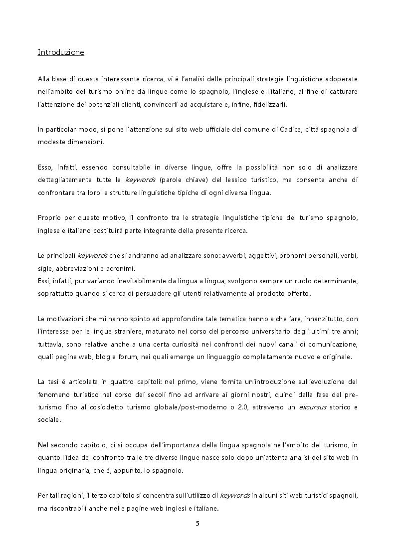 Anteprima della tesi: Le strategie linguistiche del turismo. Cadice: esempio di promozione turistica online. , Pagina 2