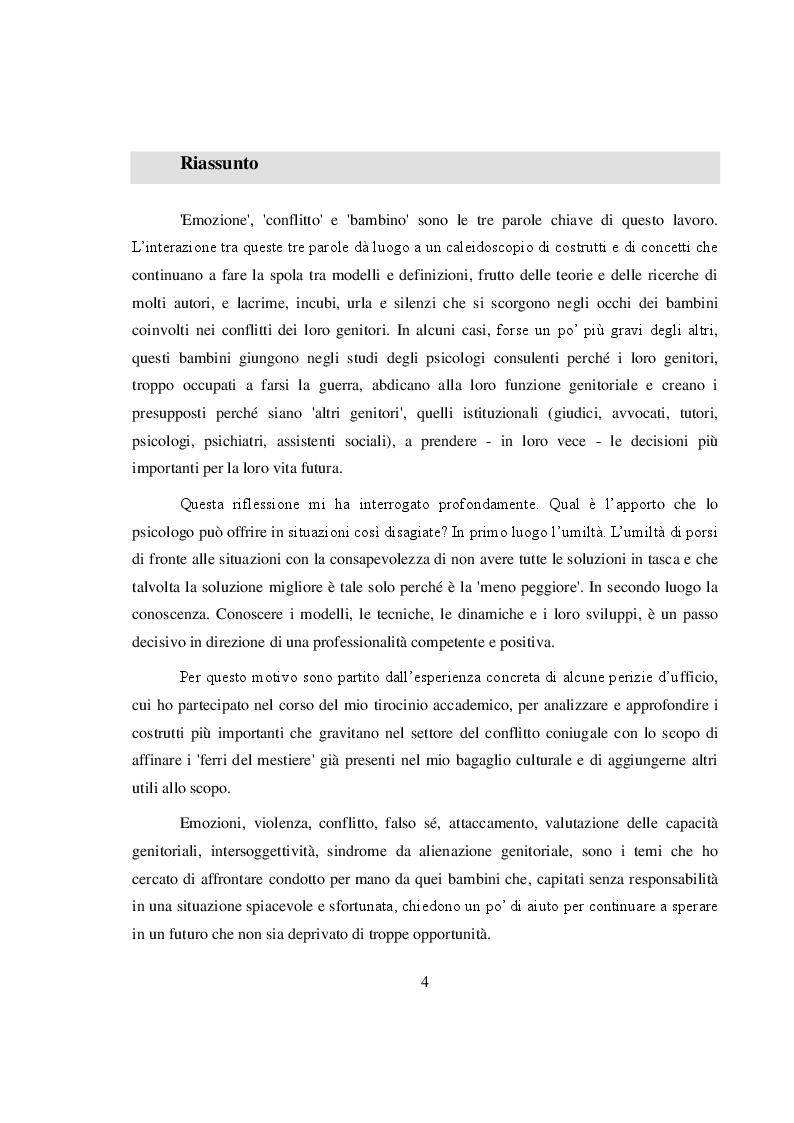 Anteprima della tesi: La salvaguardia dell'integrità emotiva dei figli nel conflitto di coppia, Pagina 2