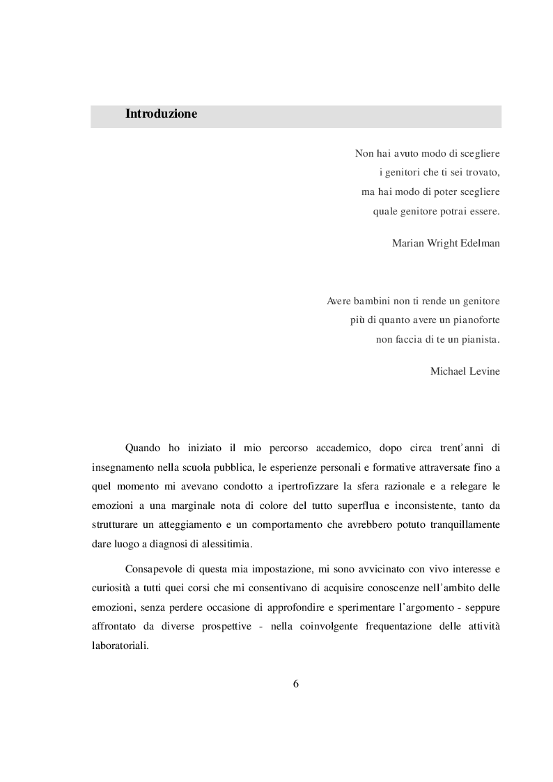 Anteprima della tesi: La salvaguardia dell'integrità emotiva dei figli nel conflitto di coppia, Pagina 3