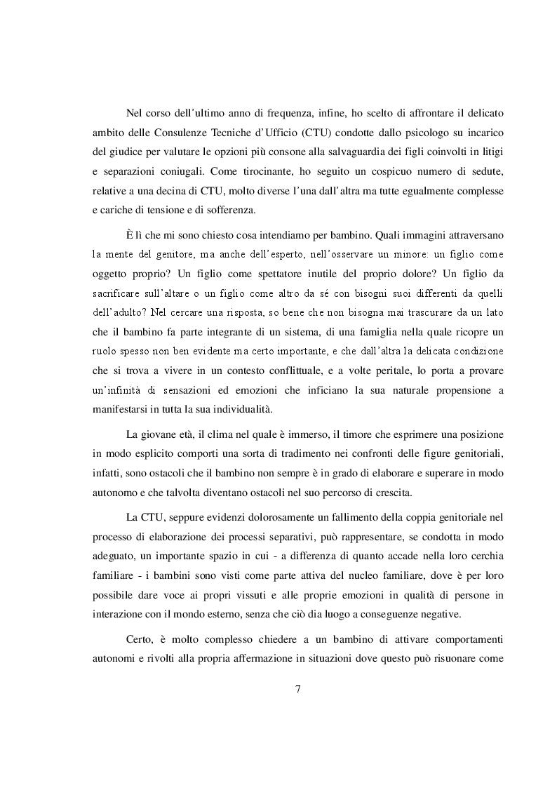 Anteprima della tesi: La salvaguardia dell'integrità emotiva dei figli nel conflitto di coppia, Pagina 4