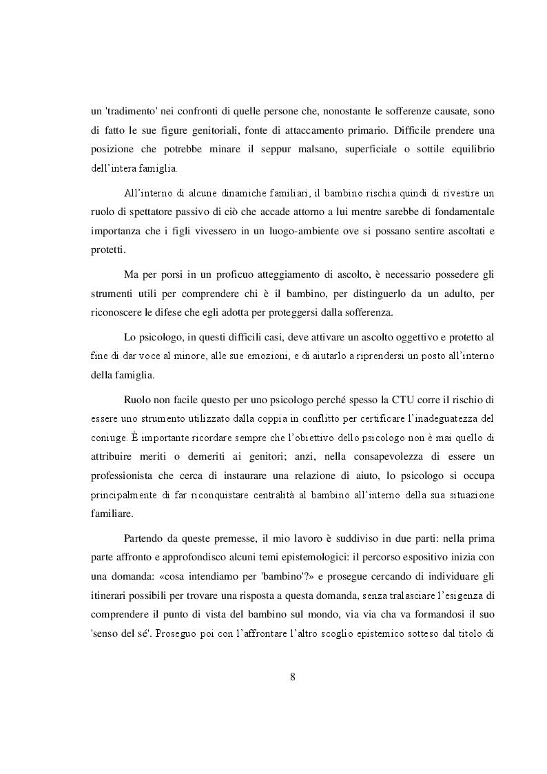 Anteprima della tesi: La salvaguardia dell'integrità emotiva dei figli nel conflitto di coppia, Pagina 5