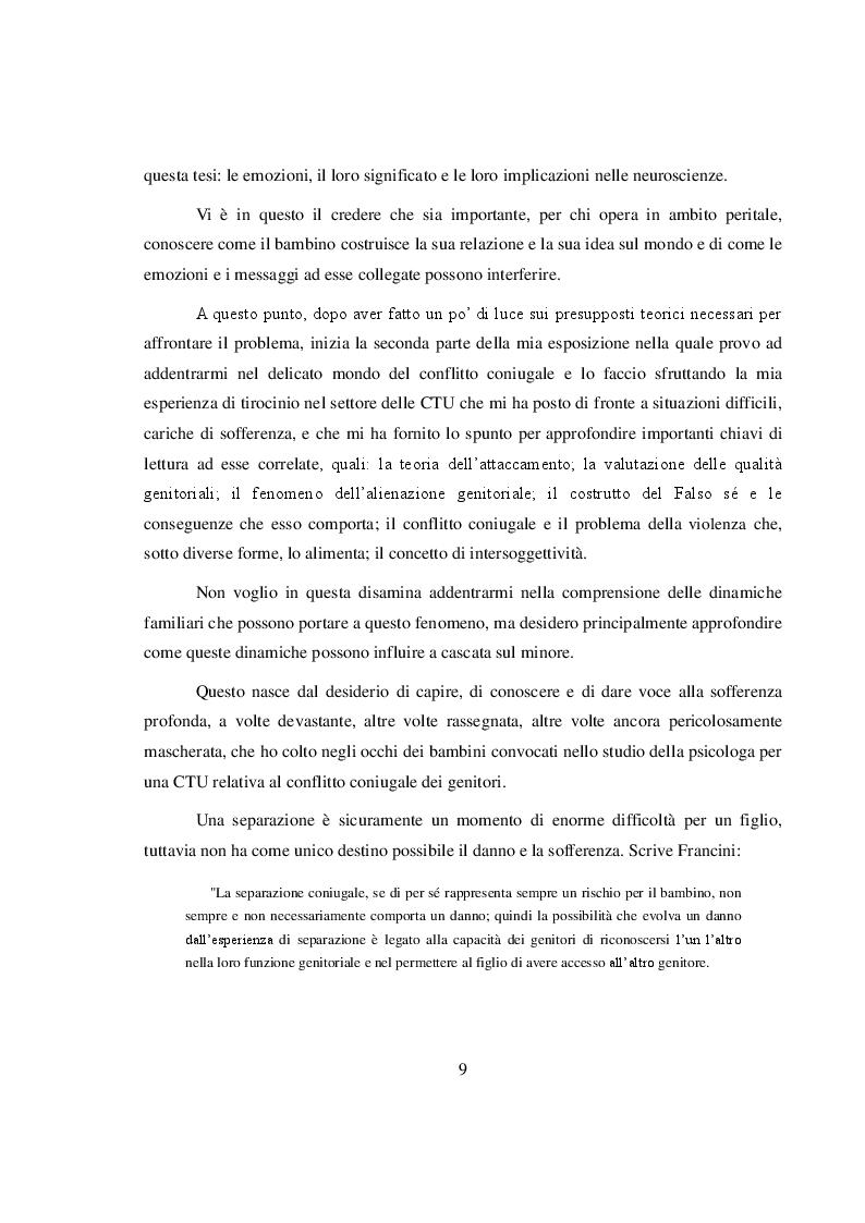 Anteprima della tesi: La salvaguardia dell'integrità emotiva dei figli nel conflitto di coppia, Pagina 6