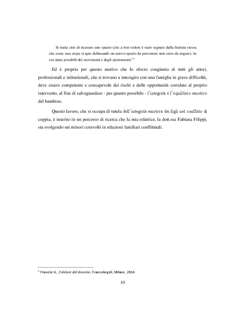 Anteprima della tesi: La salvaguardia dell'integrità emotiva dei figli nel conflitto di coppia, Pagina 7