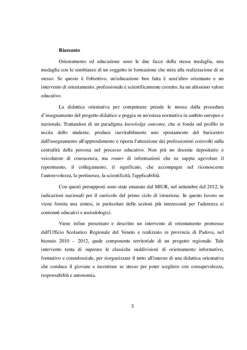 Anteprima della tesi: La didattica orientativa a confronto con le nuove indicazioni nazionali per il curricolo, Pagina 2