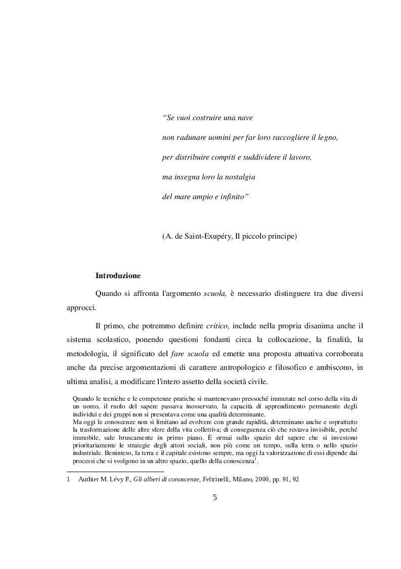 Anteprima della tesi: La didattica orientativa a confronto con le nuove indicazioni nazionali per il curricolo, Pagina 3