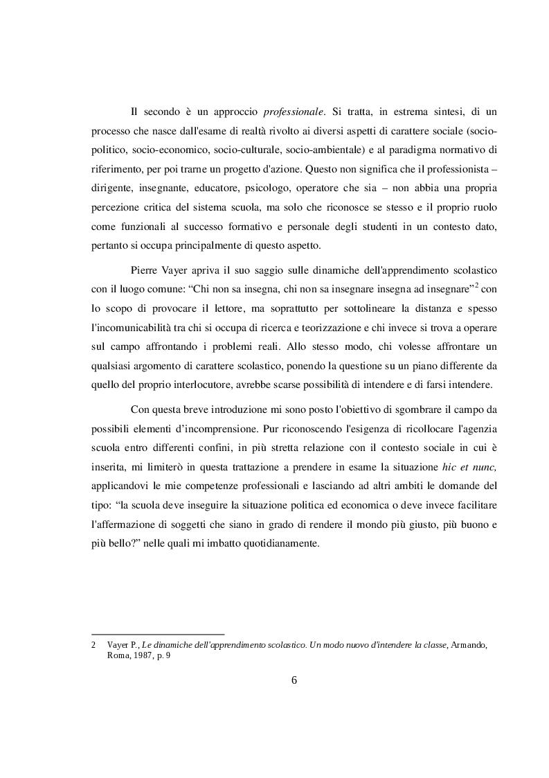 Anteprima della tesi: La didattica orientativa a confronto con le nuove indicazioni nazionali per il curricolo, Pagina 4