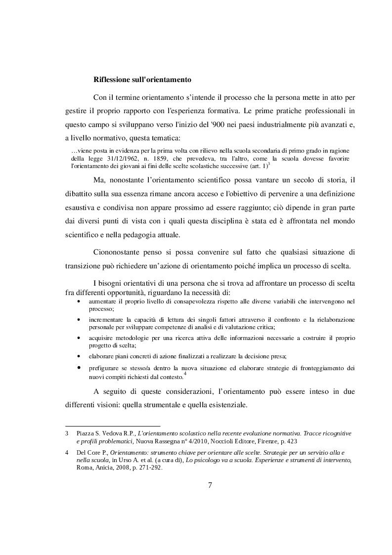 Anteprima della tesi: La didattica orientativa a confronto con le nuove indicazioni nazionali per il curricolo, Pagina 5