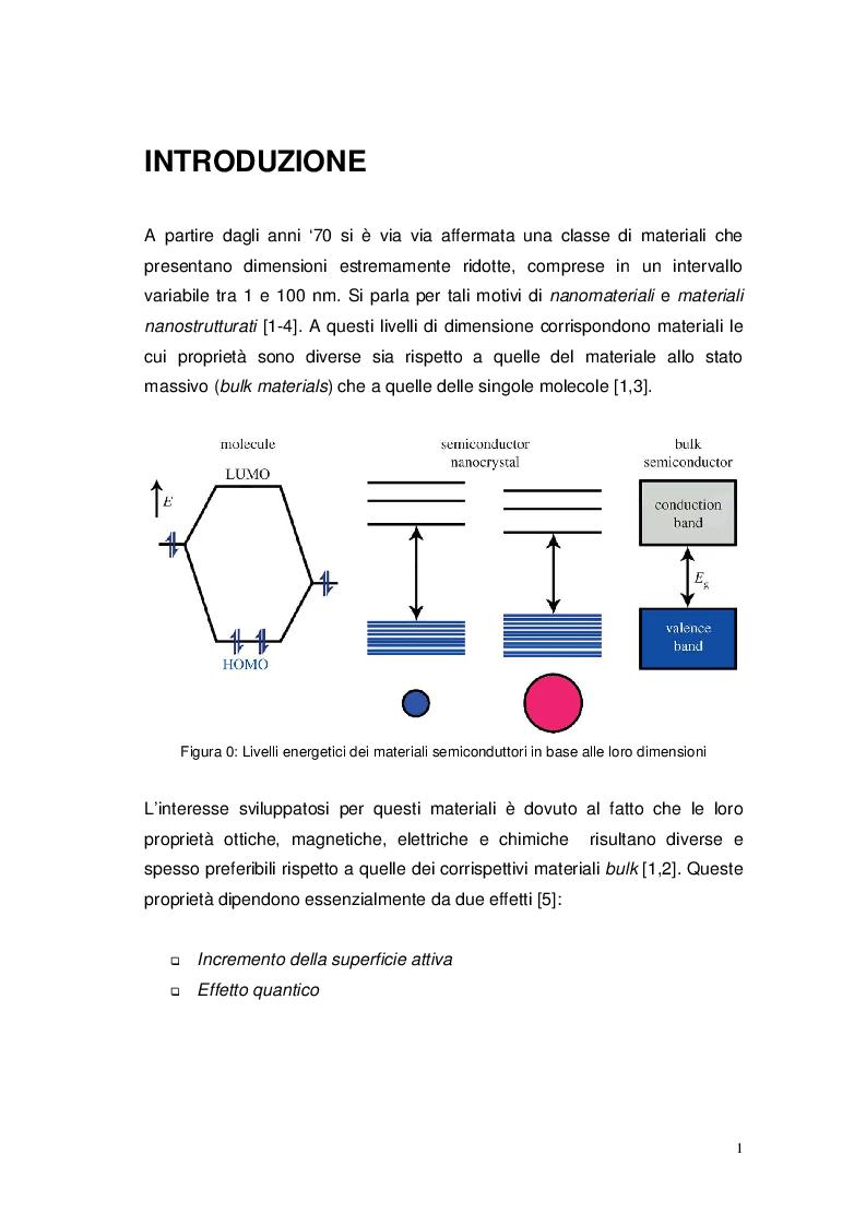 Anteprima della tesi: Studio elettro-fotocatalitico di film di materiali nanostrutturati ricoperti di TiO2 (anatasio), Pagina 2