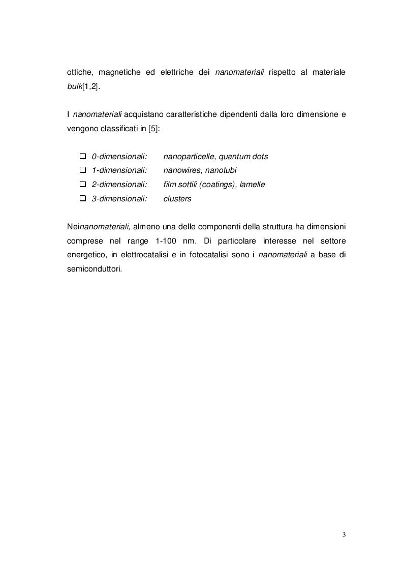 Anteprima della tesi: Studio elettro-fotocatalitico di film di materiali nanostrutturati ricoperti di TiO2 (anatasio), Pagina 4