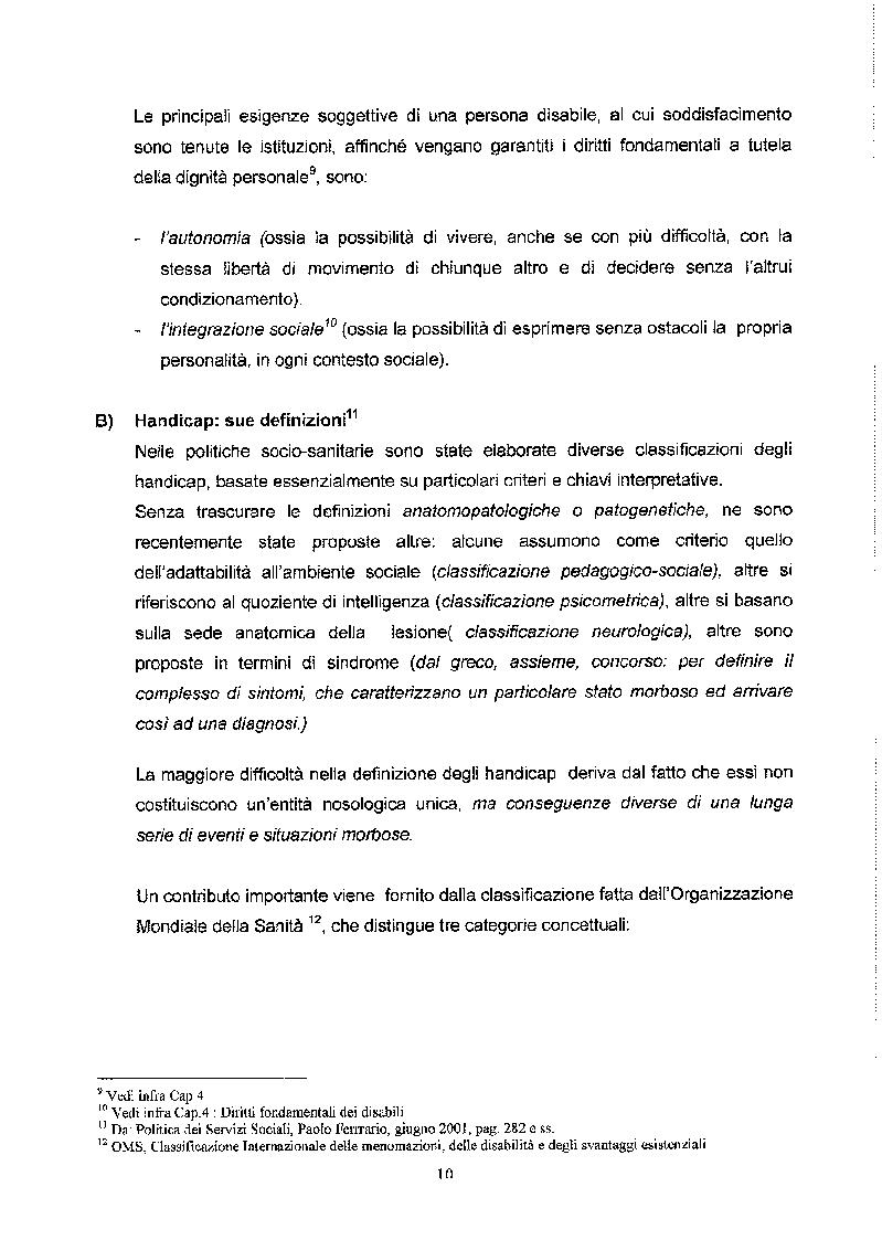 Anteprima della tesi: Libertà ed Azioni positive: Stato sociale e tutela giuridica delle disabilità, Pagina 5