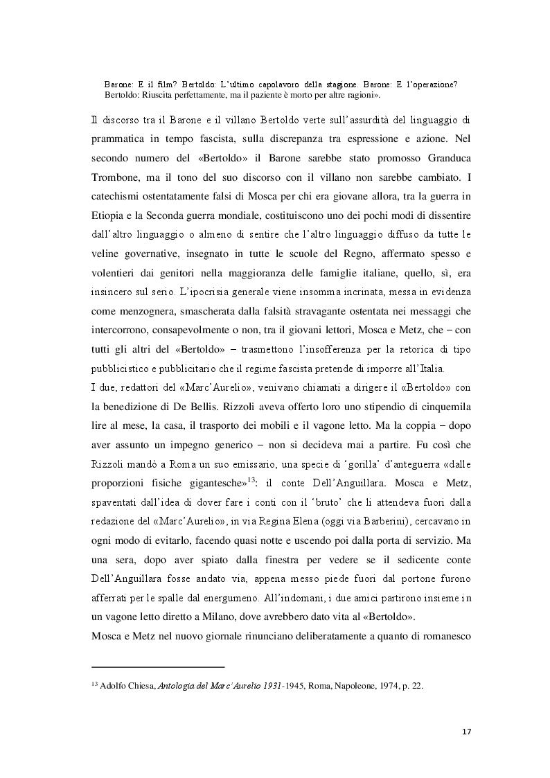 Estratto dalla tesi: «Cantore delle piccole cose di tutti i giorni» Storia di Giovanni Mosca