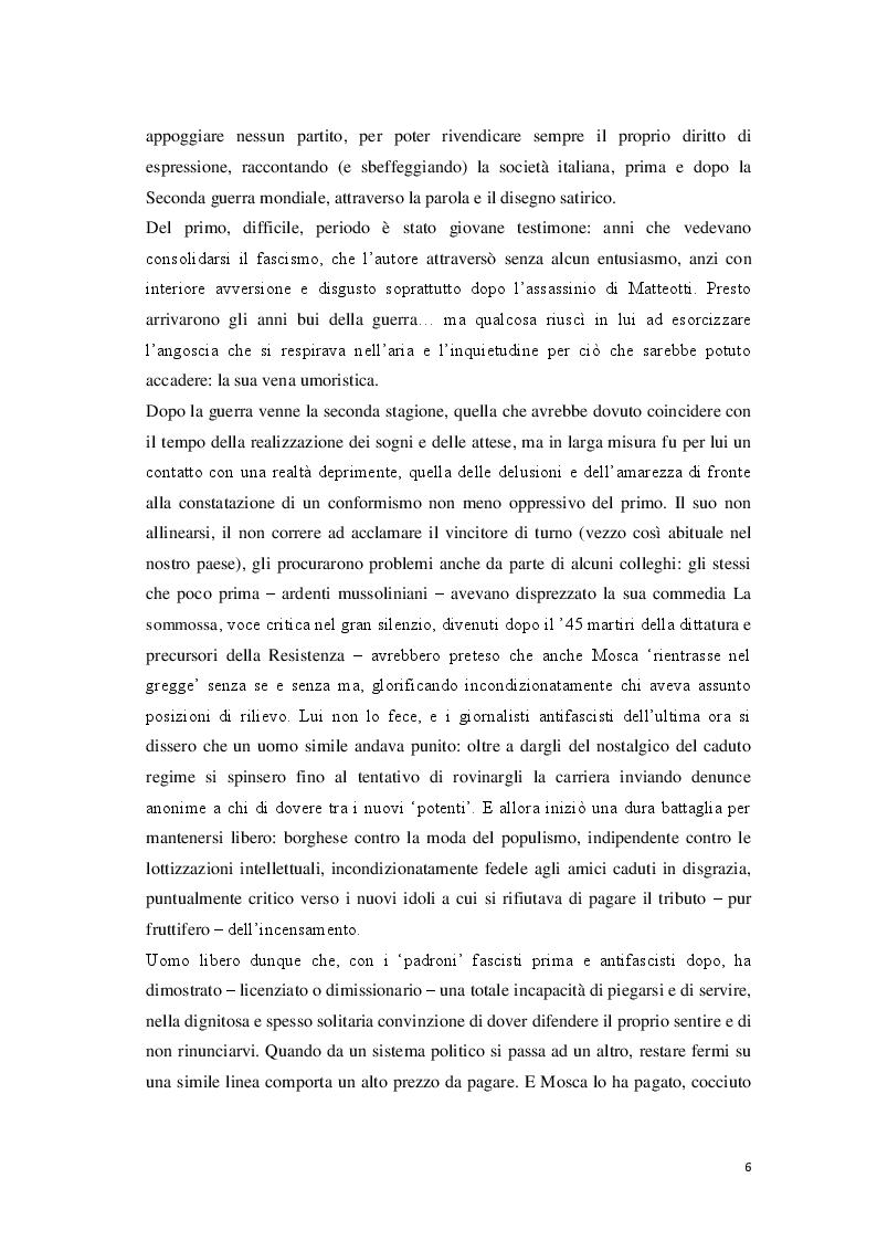 Anteprima della tesi: «Cantore delle piccole cose di tutti i giorni» Storia di Giovanni Mosca, Pagina 4