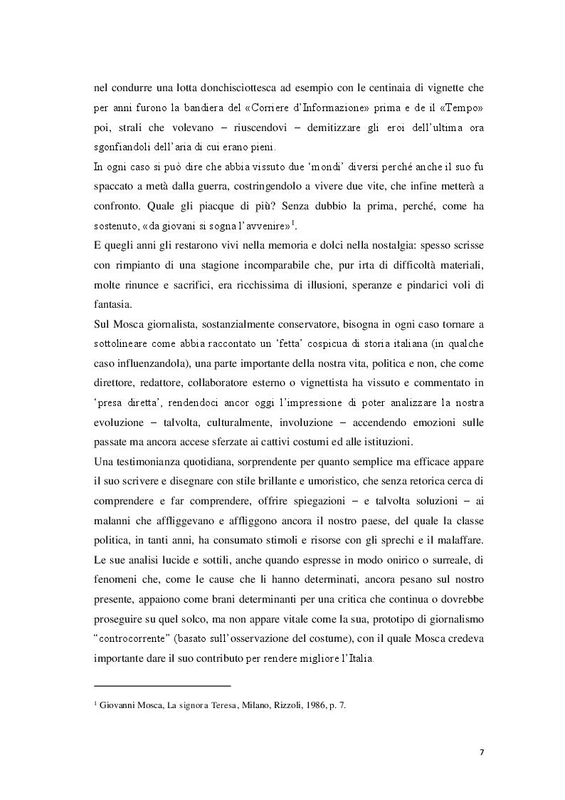 Anteprima della tesi: «Cantore delle piccole cose di tutti i giorni» Storia di Giovanni Mosca, Pagina 5