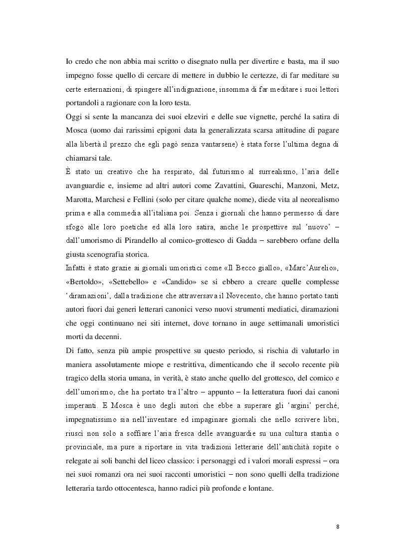 Anteprima della tesi: «Cantore delle piccole cose di tutti i giorni» Storia di Giovanni Mosca, Pagina 6
