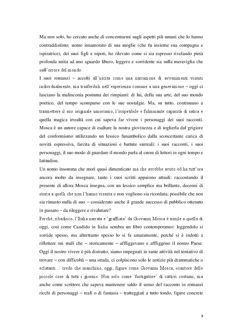 Anteprima della tesi: «Cantore delle piccole cose di tutti i giorni» Storia di Giovanni Mosca, Pagina 7