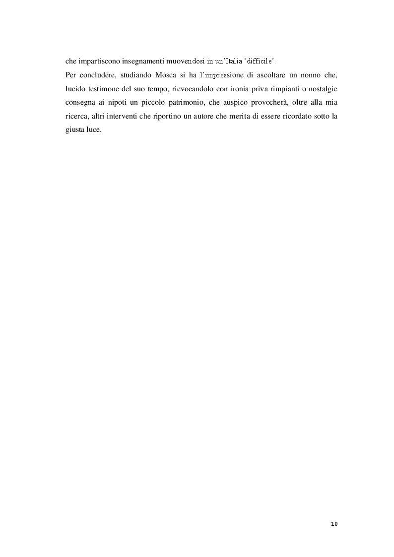 Anteprima della tesi: «Cantore delle piccole cose di tutti i giorni» Storia di Giovanni Mosca, Pagina 8
