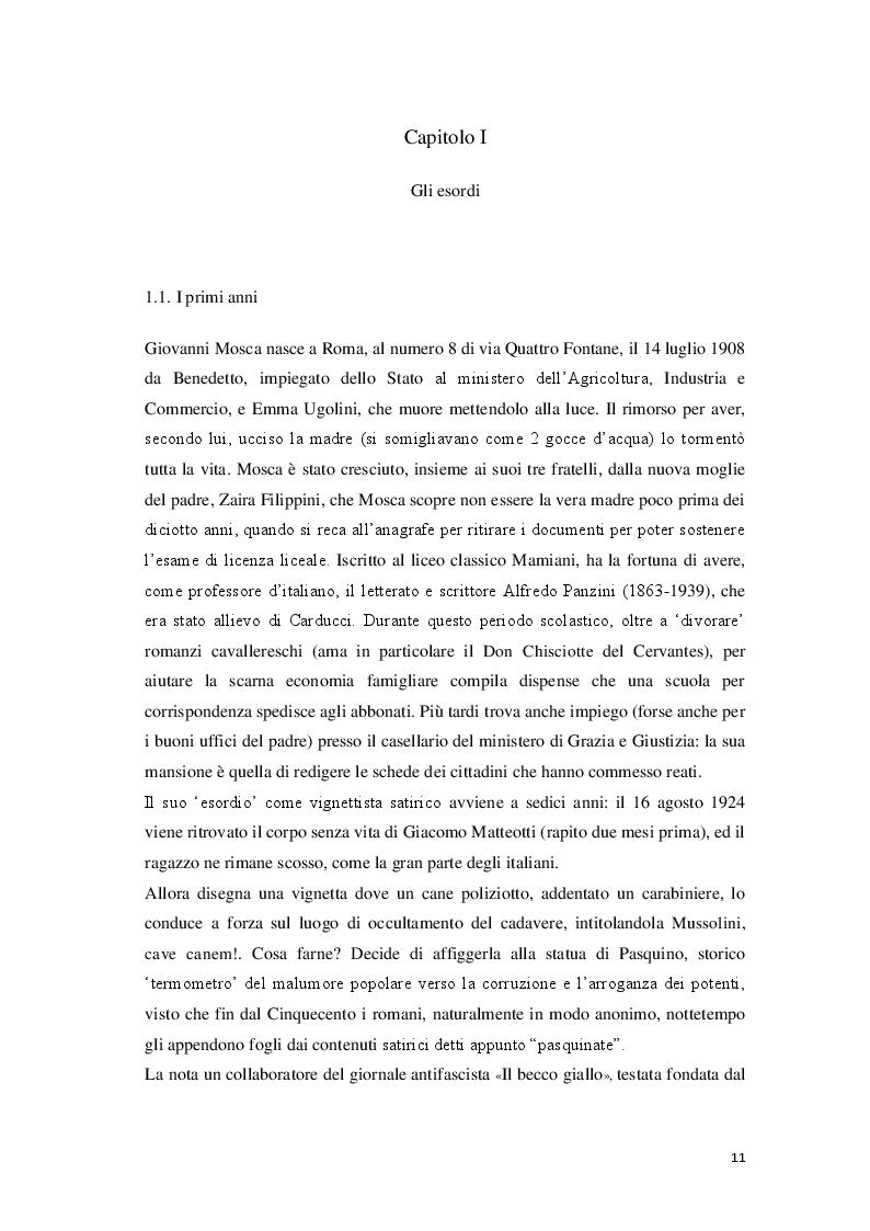 Anteprima della tesi: «Cantore delle piccole cose di tutti i giorni» Storia di Giovanni Mosca, Pagina 9