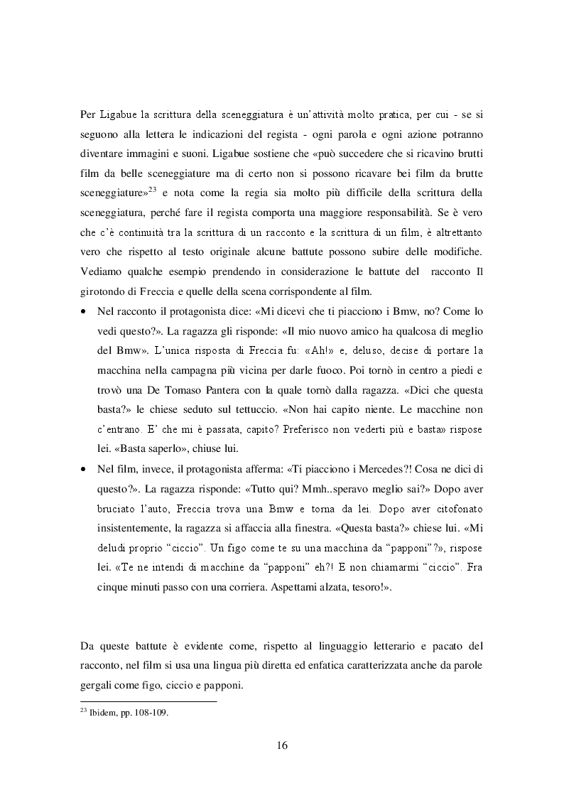 Estratto dalla tesi: La lingua delle canzoni di Ligabue