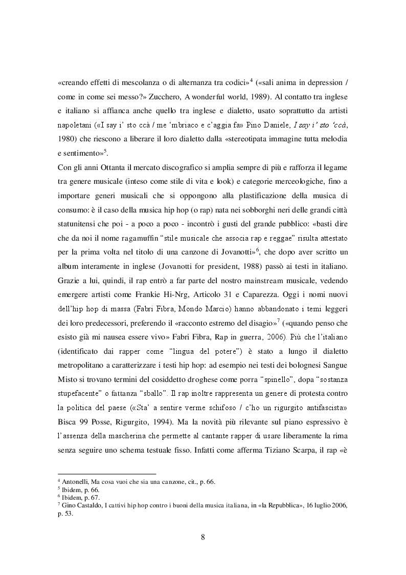 Anteprima della tesi: La lingua delle canzoni di Ligabue, Pagina 4