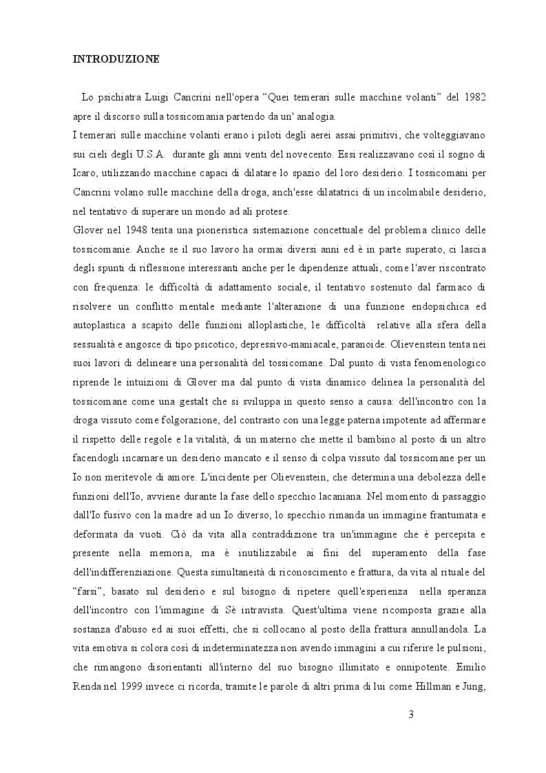 Anteprima della tesi: Utilizzo delle terapie di gruppo nelle dipendenze: esperienze in comunità terapeutica, Pagina 2