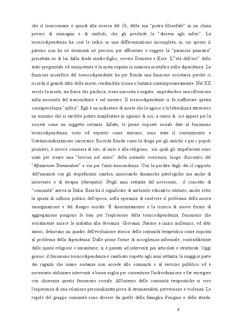 Anteprima della tesi: Utilizzo delle terapie di gruppo nelle dipendenze: esperienze in comunità terapeutica, Pagina 3