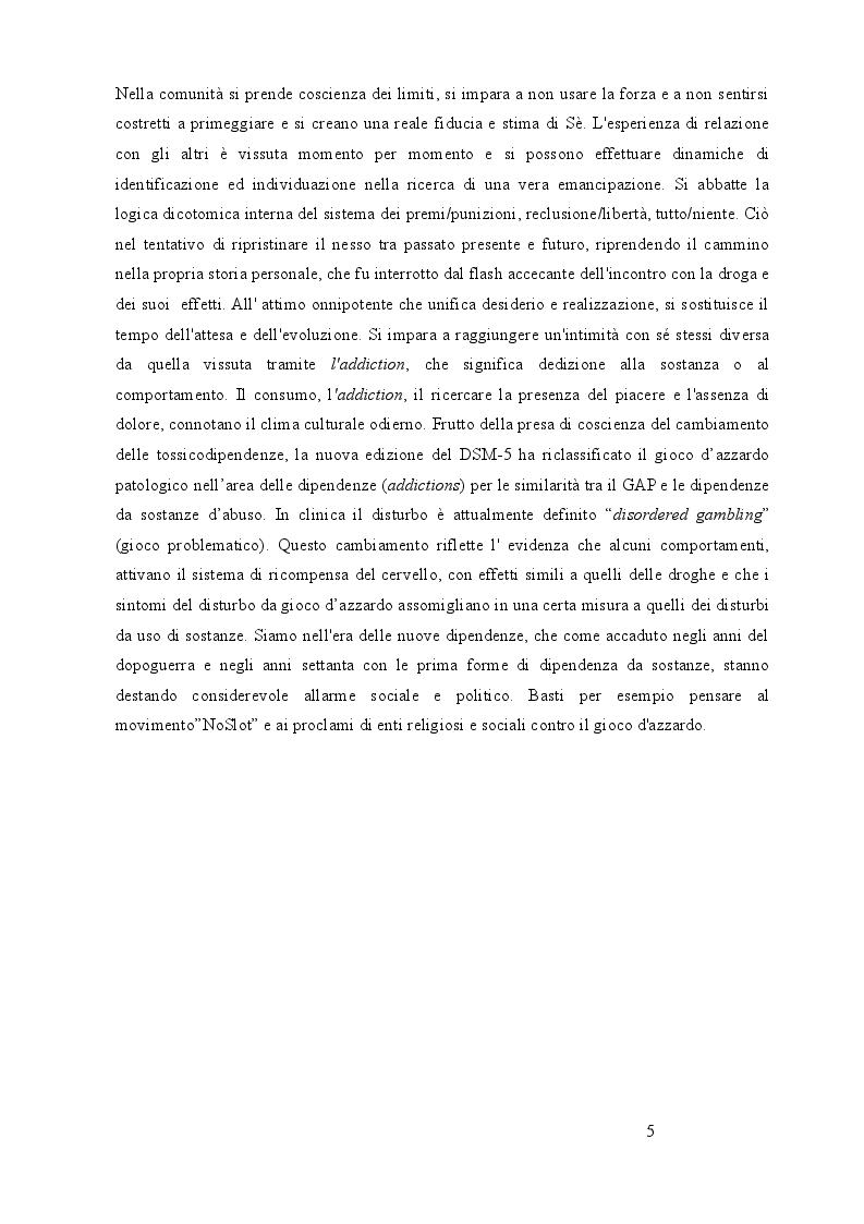 Anteprima della tesi: Utilizzo delle terapie di gruppo nelle dipendenze: esperienze in comunità terapeutica, Pagina 4
