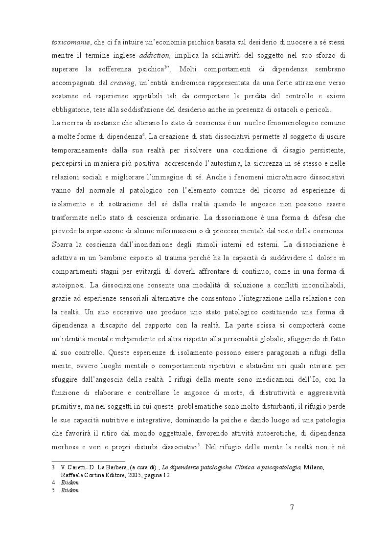 Anteprima della tesi: Utilizzo delle terapie di gruppo nelle dipendenze: esperienze in comunità terapeutica, Pagina 6