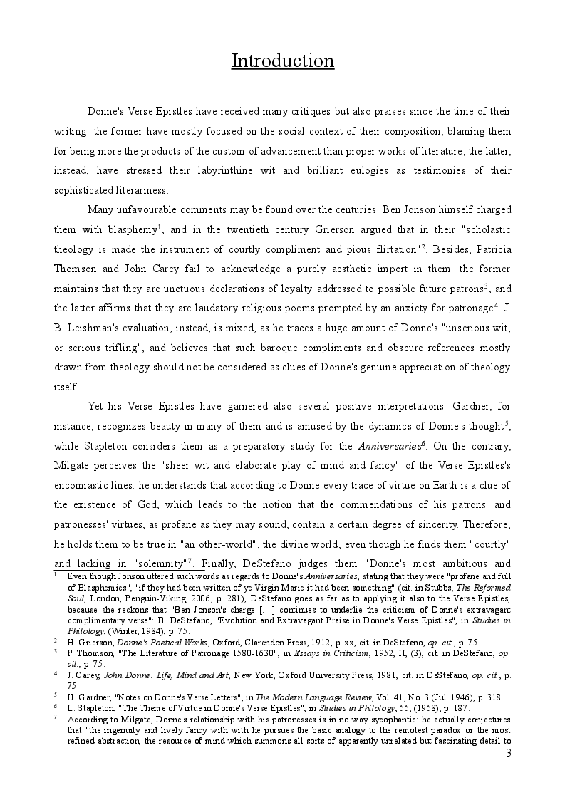 Anteprima della tesi: John Donne's Verse Epistles, Pagina 2