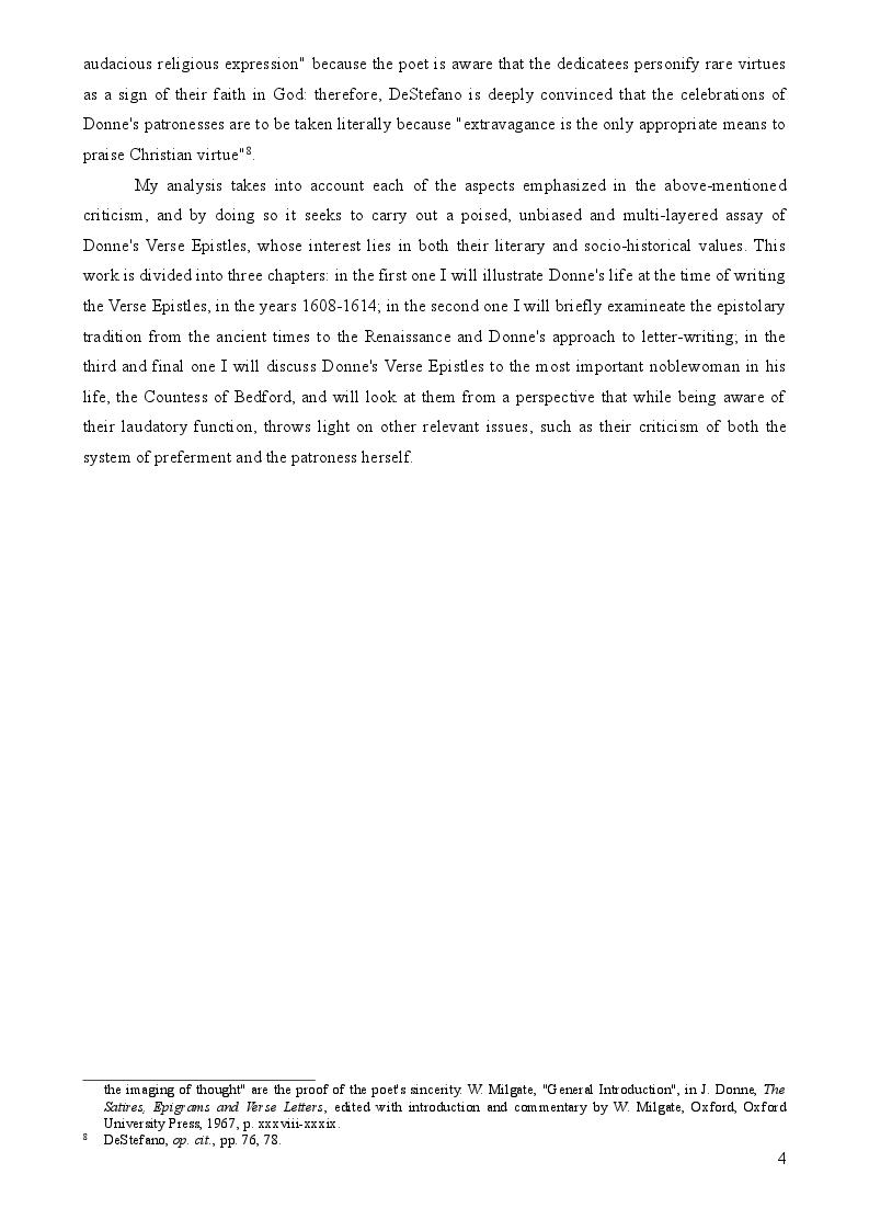 Anteprima della tesi: John Donne's Verse Epistles, Pagina 3