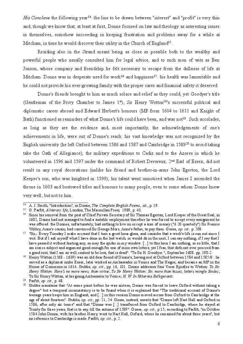Anteprima della tesi: John Donne's Verse Epistles, Pagina 5