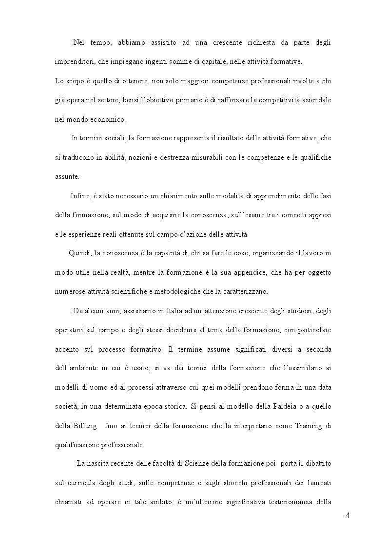 Anteprima della tesi: La formazione come strategia per il successo, Pagina 3