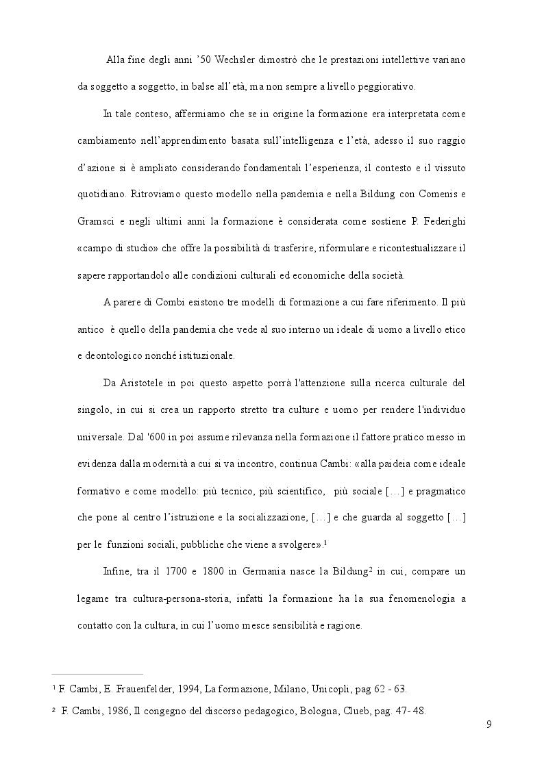 Anteprima della tesi: La formazione come strategia per il successo, Pagina 8