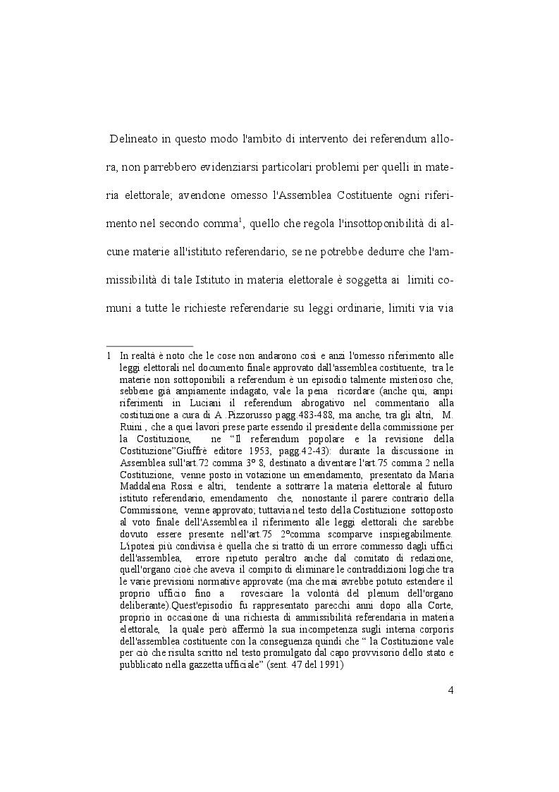 Anteprima della tesi: Il referendum abrogativo in materia elettorale, Pagina 3
