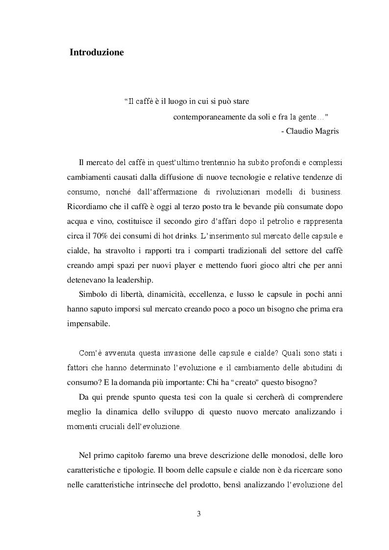 Anteprima della tesi: La ''guerrilla'' del caffè monoporzione. Il concetto di lusso di Nespresso, Pagina 2