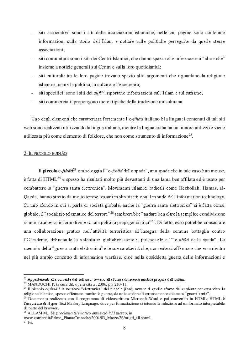 Estratto dalla tesi: JIHĀD E MASS MEDIA: propaganda pacifica e reclutamento armato. Il caso italiano