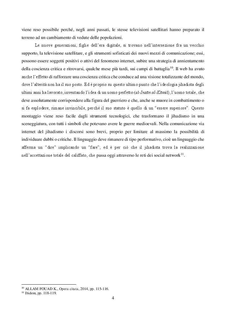Anteprima della tesi: JIHĀD E MASS MEDIA: propaganda pacifica e reclutamento armato. Il caso italiano, Pagina 4
