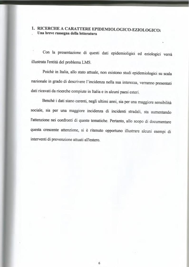 Anteprima della tesi: La lesione al midollo cervicale: un approccio psicologico-riabilitativo, Pagina 5