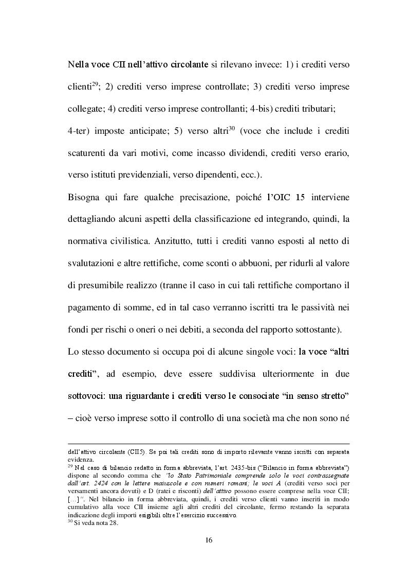 Estratto dalla tesi: La valutazione dei crediti tra normativa civilistica e fiscale