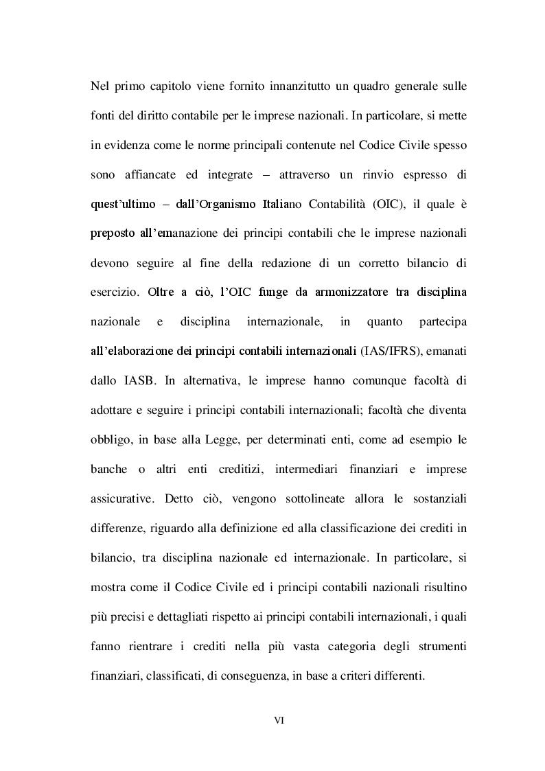 Anteprima della tesi: La valutazione dei crediti tra normativa civilistica e fiscale, Pagina 4