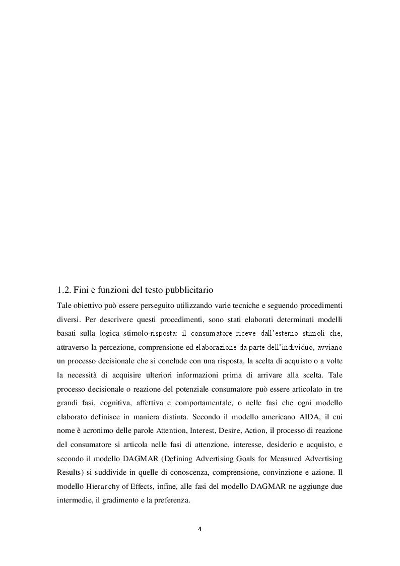 Anteprima della tesi: La pubblicità e la traduzione del messaggio pubblicitario problemi e strategie traduttivi., Pagina 2